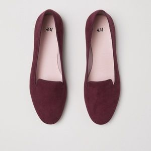 Wine colored loafers